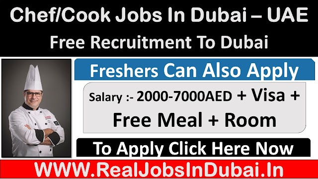 Chef/Cook Jobs In Dubai, Abu Dhabi & Sharjah - UAE 2021