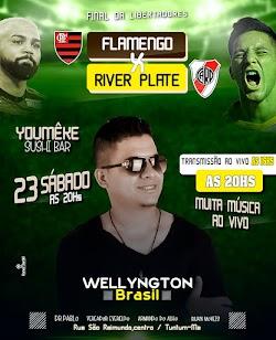Neste sábado grande partida de futebol entre duas grandes seleções esportivas Flamengo e River Plate