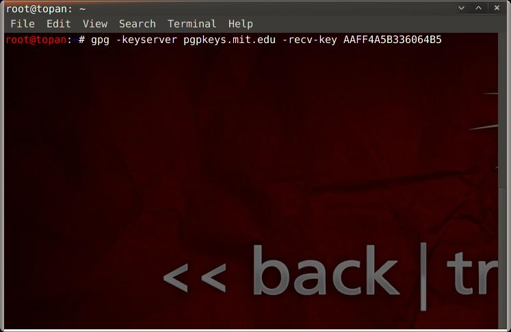 GPG Error Kali Linux