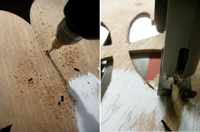 cutting a wooden figure with BladeRunner