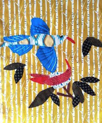 patchwork, jacqueline morel, marie claire idées, oiseaux, appliqué