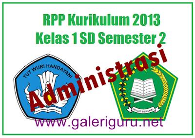 Administrasi Rpp Kurikulum 2013 Kelas 1 SD/MI Revisi - Galeri Guru