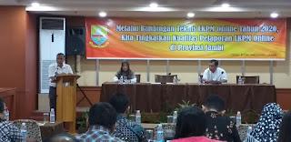 Kadis DPM PTSP Provinsi Jambi Secara Resmi Membuka Bimtek LKPM Online 2020.