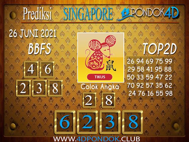 Prediksi Togel SINGAPORE PONDOK4D 26 JUNI 2021