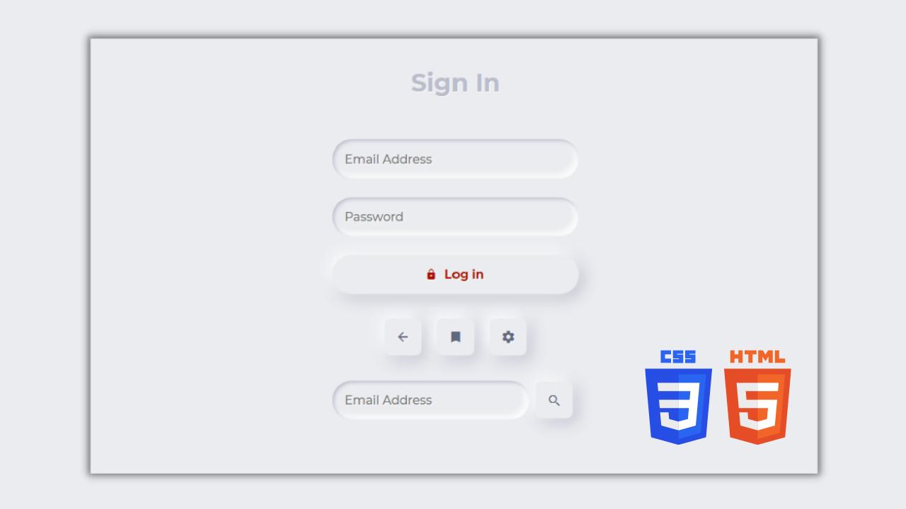 Neumorphic Login Form Design using HTML and CSS