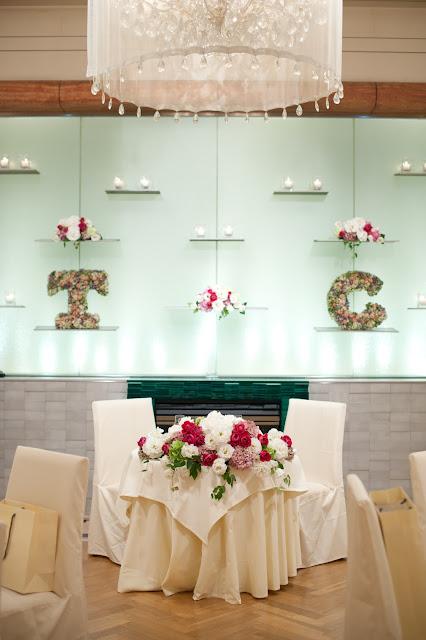 イニシャルリース 結婚式 ドライフラワーアレンジメント ピオニー