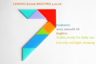 Custom Rom  MIUI7 5.10.20 Untuk LENOVO A7000