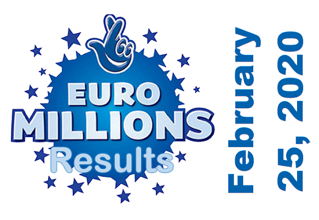 EuroMillions Results for Tuesday, February 25, 2020
