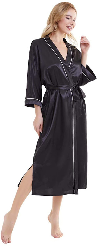 Good Quality Long Satin Robes For Women