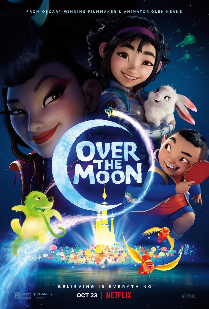 Download Over the Moon (2020) Full Movie in Hindi Dual Audio BluRay 720p [1GB]