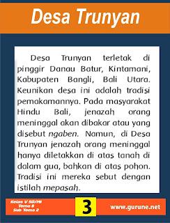 Desa Trunyan terletak di pinggir Danau Batur, Kintamani, Kabupaten Bangli, Bali Utara
