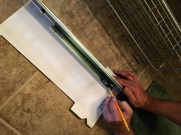 Use the template to measure correctly Bathroom Vanity Project from Walking on Sunshine