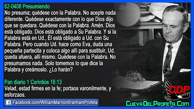 Quédese exactamente con lo que Dios dijo - Citas William Branham Mensajes