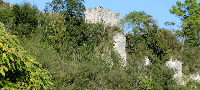 The ruined castle of Les Roches Tranchelion, Indre et Loire, France. Photo by Loire Valley Time Travel.