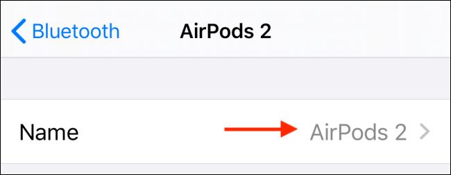 حدد اسم AirPods الخاص بك