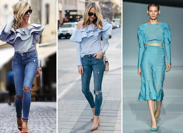 tendencias de moda primavera verão 2018 - ombros estruturados