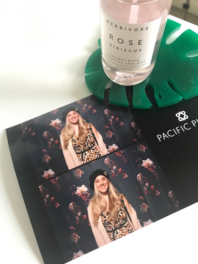 photobooth pic and rose water