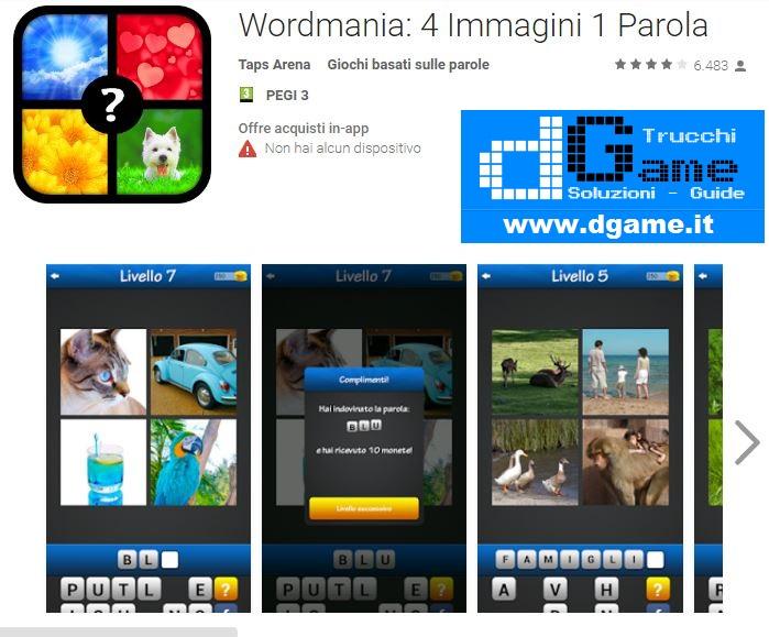 Wordmania 4 immagini 1 parola soluzione pacchetto 2 for 4 immagini 1 parola fotografi