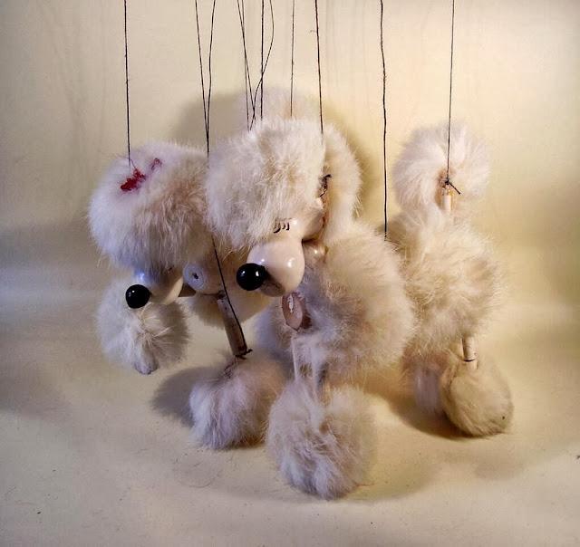 Two poodle Pelham Puppets