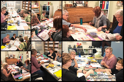 Linda Vich Creates: 2017 Catalog Launch Party. Stampers busy completing the three activities for the catalog launch.