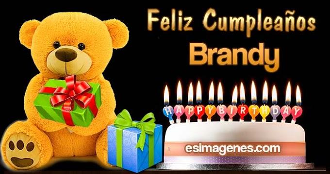 Feliz cumpleaños Brandy