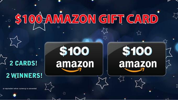 Sorteio de Dois Gift Cards da Amazon