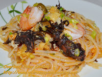 Special Pansit Palabok with Adobong Pusit
