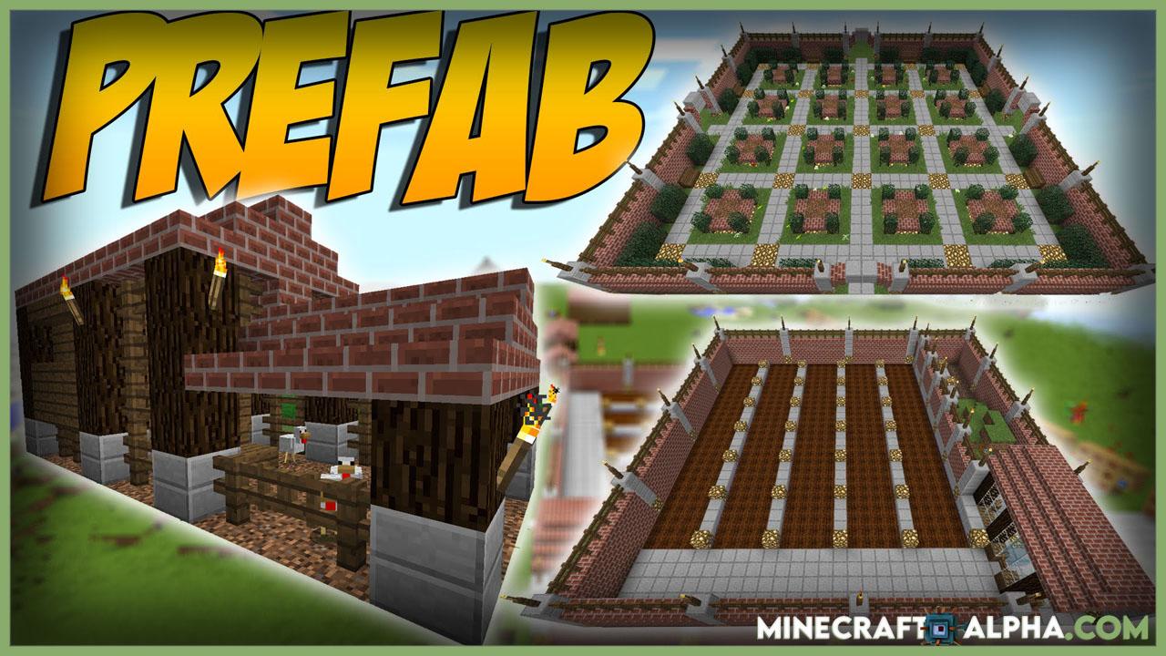 Minecraft 1.17 Prefabricated Building Mod