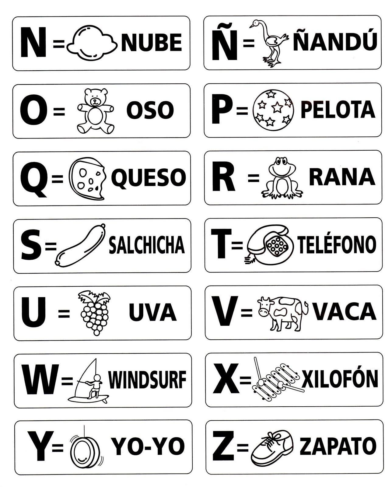Letras Del Alfabeto Espanol Para Colorear Cita Medico Cordoba