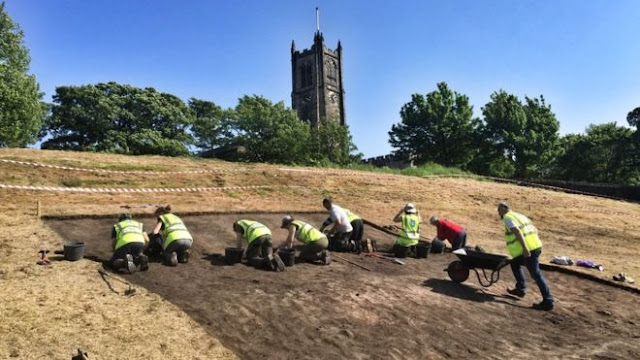 Excavation begins at historic English castle site