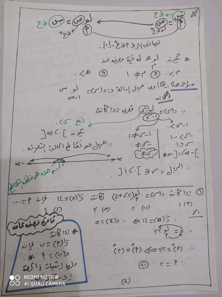 مراجعه جبر 2 ثانوي بالاجابات أ/ يحيي شعيشع 4