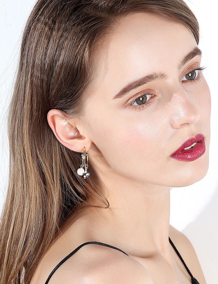 夢幻星星擬珍珠CC耳環