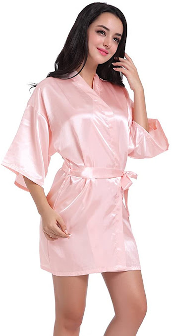 Silk Satin Bridal Robes For Bride or Bridesmaids