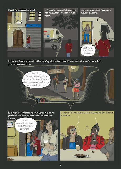 """page """"PUTAINS DE VIE ! Itinéraires de travailleuses du sexe"""" par Muriel Douru, préface Ovidie"""