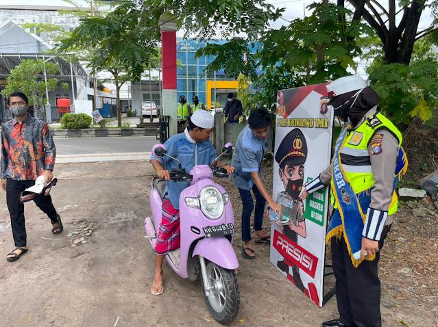 ATM Masker Polres Kotim Hadir Di Di Masjid Al-Muhajirin Muhammadiyah Sampit