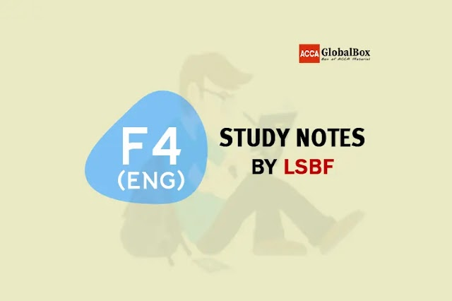 F4 (ENGLISH) - Study Notes by LSBF