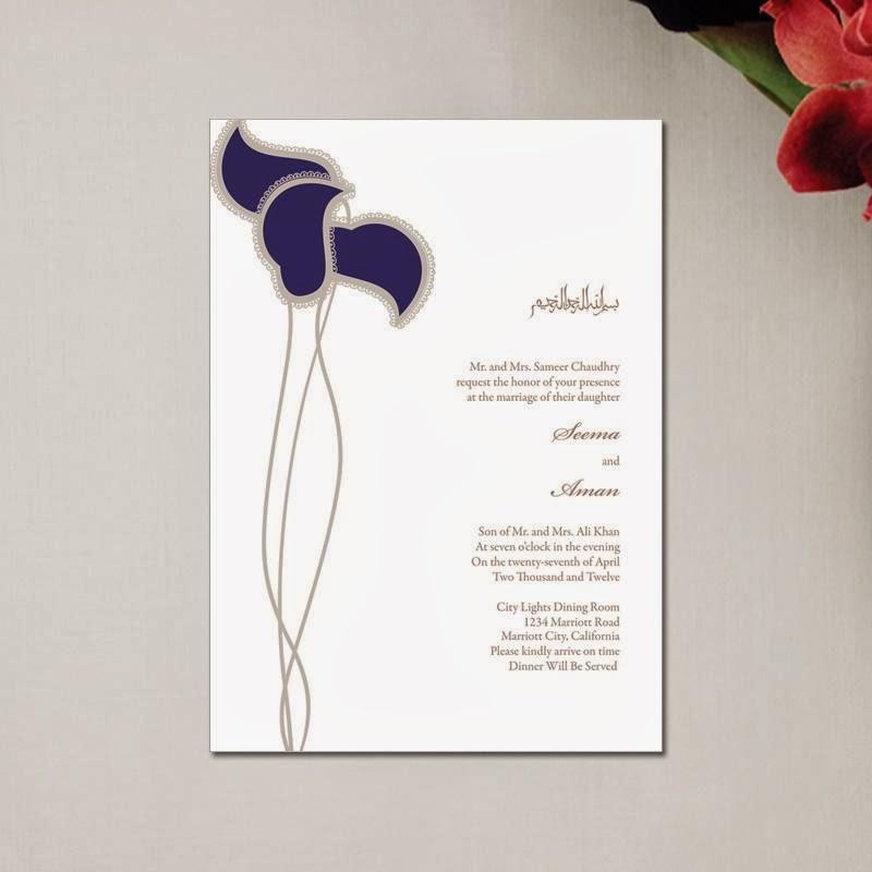 Muslim Wedding Invitation Wording: Unique Wedding Invitations: Muslim Wedding Invitations