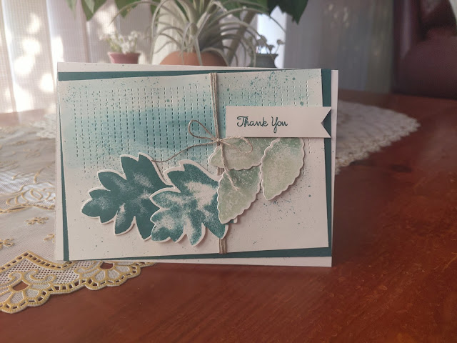 Pretty Peacock Stampin' Up Leaves Card