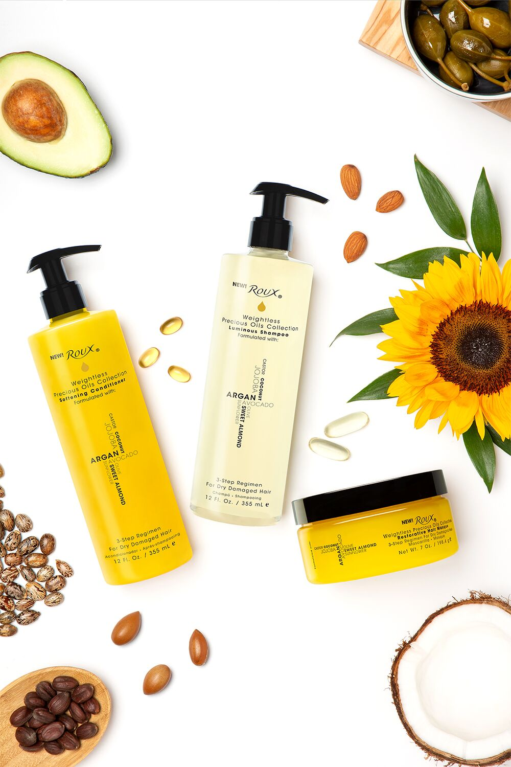 I love Roux® Weightless Precious Oils Hair Care Collection