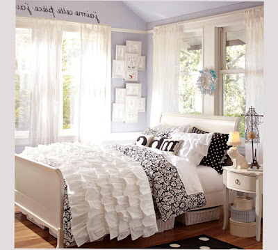 for cool bedroom designs for teenage girls white and black color