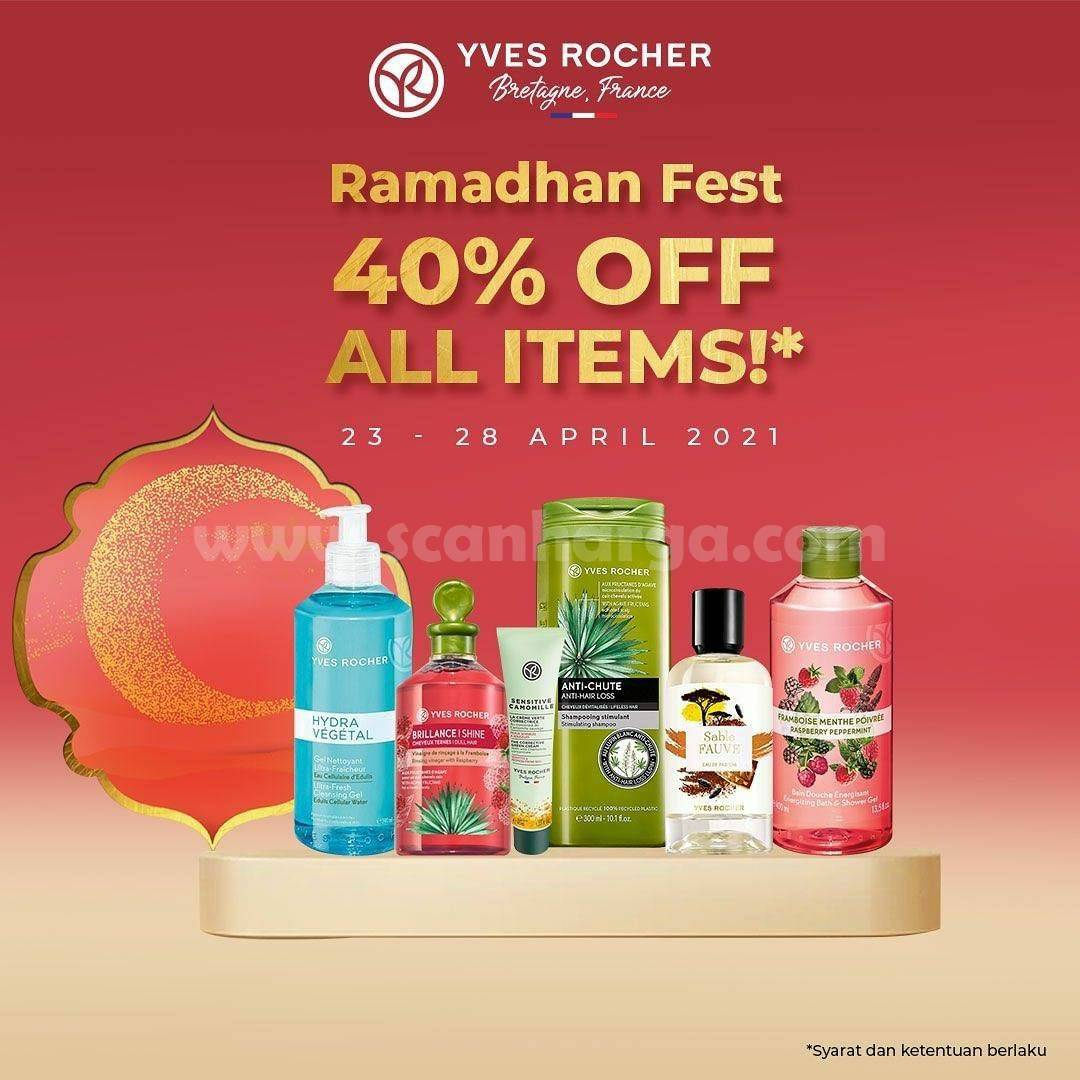 Promo Yves Rocher Ramadhan Fest Discount 40% Off All Items