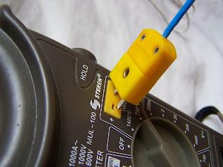 Instalaciones eléctricas residenciales - colocación del termoacoplador tipo K