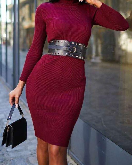 Midi πλεκτό φόρεμα ζιβάγκο. New !