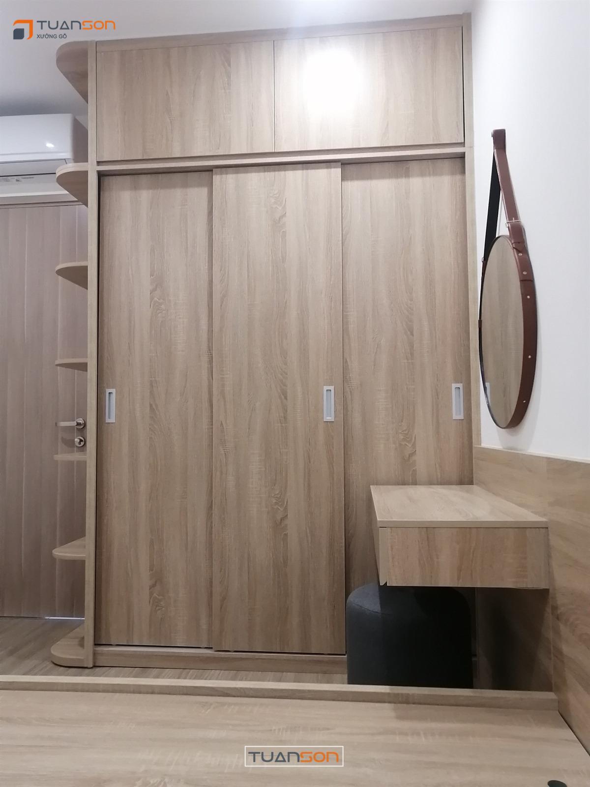 Thi công nội thất căn hộ 55M2 (2PN+1) Vinhomes Ocean Park Gia Lâm
