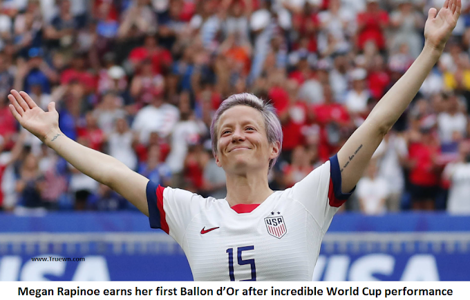 Megan Rapinoe earns her first Ballon d'Or after incredible World Cup performance
