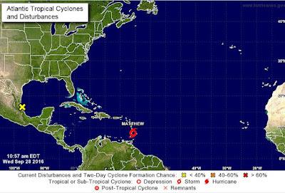 Matthew se convierte en huracan