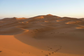 Marruecos, dunas de Erg Chebbi.