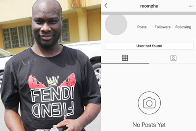 Mompha 'Disappears' From Instagram After Being Arrested By EFCC