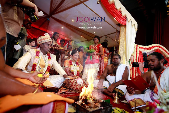 religious burning insence during wedding
