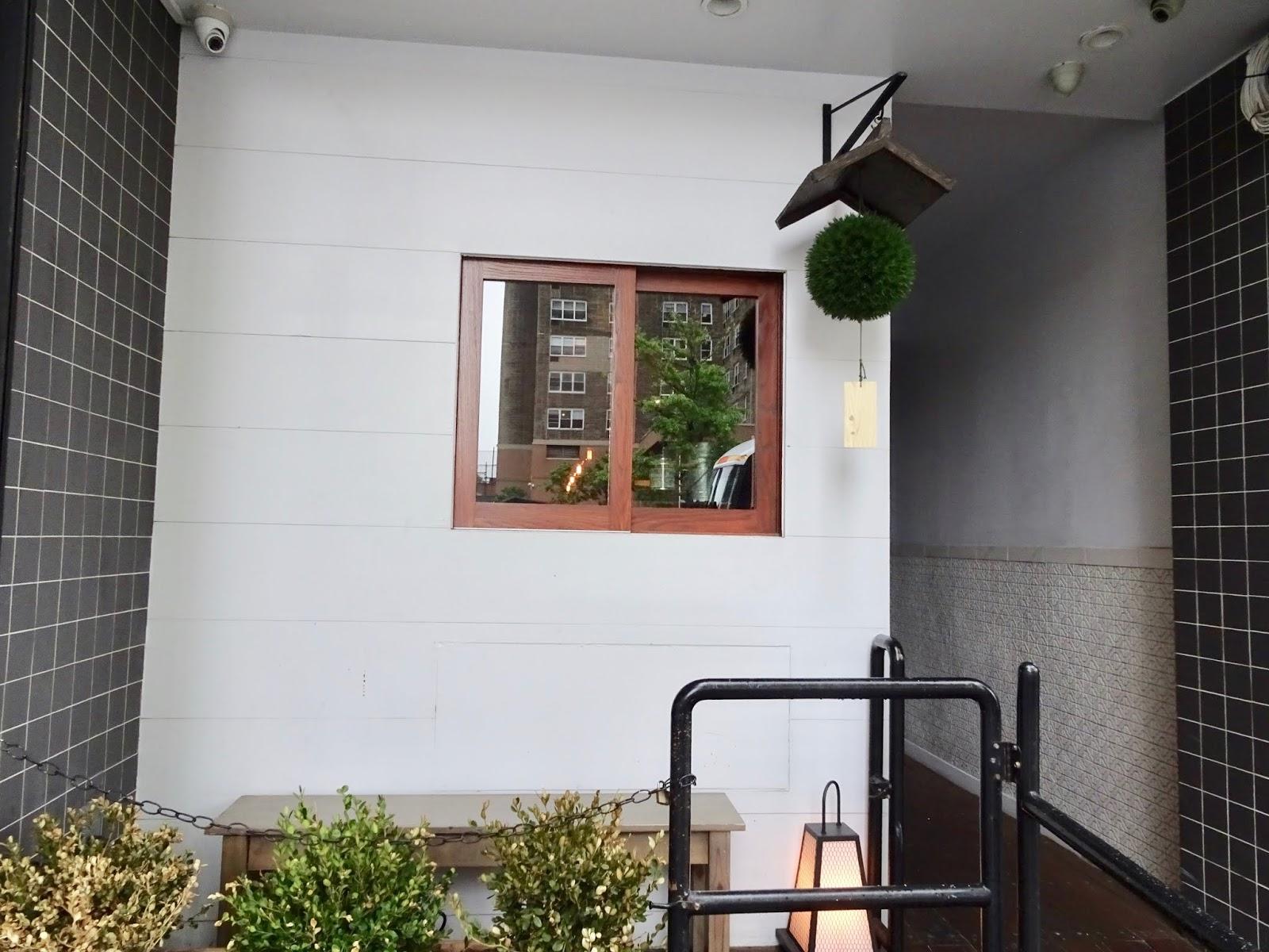 outside a restaurant